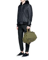 Givenchy - Green 'pandora' Canvas Messenger Bag for Men - Lyst