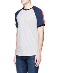 TOPMAN - Gray Raglan Sleeve T-shirt for Men - Lyst