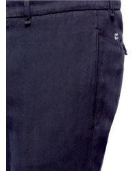 Lardini - Black Cotton Herringbone Pants for Men - Lyst