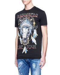 DSquared² | Blue 'live Tour' Print Cotton T-shirt for Men | Lyst