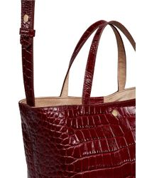 Elizabeth and James - Multicolor 'eloise' Croc Embossed Leather Tote - Lyst