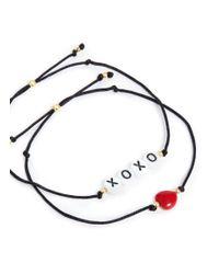 Venessa Arizaga - Multicolor 'hugs And Kisses' Bracelet Set - Lyst