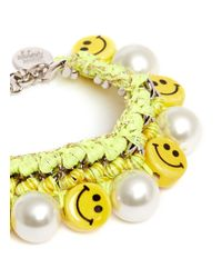Venessa Arizaga - Yellow 'happy-go-lucky' Bracelet - Lyst