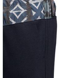 Kolor - Blue Print Waist Cotton Jogging Pants for Men - Lyst
