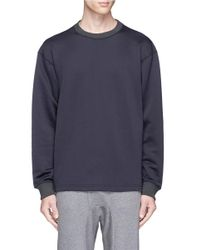 Kolor | Blue Ribbed Trim French Terry Sweatshirt for Men | Lyst
