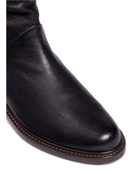 Stuart Weitzman - Black 'spartan' Leather Mid Calf Boots - Lyst