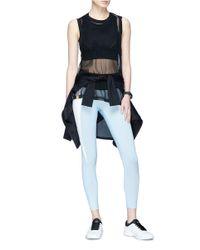Monreal London - Blue 'asana' Contrast Outseam Performance Leggings - Lyst