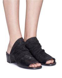 Marsèll - Black 'sandalo' Suede Sandals - Lyst