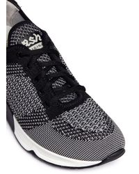 Ash - Gray 'lucky' Mixed Knit Sneakers - Lyst