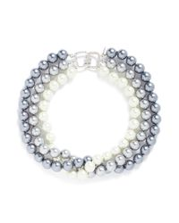 Kenneth Jay Lane - Multicolor Cultura Pearl Tiered Necklace - Lyst