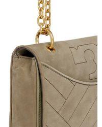 Tory Burch | Green 'alexa' Convertible Nubuck Leather Shoulder Bag | Lyst