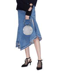 Kara - Metallic 'selfie Cd' Oversized Ring Mirror Faux Leather Crossbody Bag - Lyst