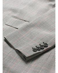 Alexander McQueen - Gray Glen Plaid Virgin Wool Coat for Men - Lyst