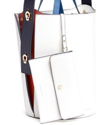Danse Lente - White 'lorna' Mini Leather Bucket Bag - Lyst