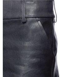 Alice + Olivia - Black 'cady' Lambskin Leather Shorts - Lyst