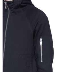 Den Im - Blue 'ponyboy' Face Embroidered Zip Hoodie for Men - Lyst