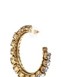 Erickson Beamon | Metallic Swarovski Crystal Hoop Earrings | Lyst
