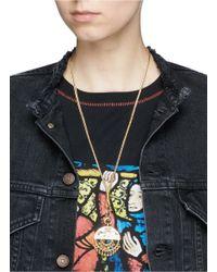 Eddie Borgo - Metallic 'nubia' Geometric Plate Beaded Fringe Pendant Necklace - Lyst
