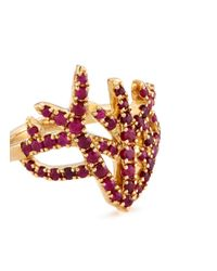 Tasaki - Metallic 'coral' Ruby 18k Gold Ring - Lyst