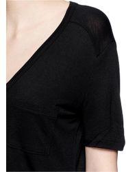 T By Alexander Wang - Black Rayon Jersey T-shirt - Lyst