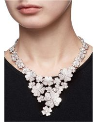 CZ by Kenneth Jay Lane - Multicolor Cubic Zirconia Floral Bib Necklace - Lyst