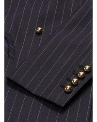Blazé Milano Multicolor 'j-class' Pinstripe Double Breasted Wool Everyday Blazer