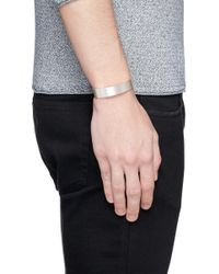 Le Gramme | White 'le 41 Grammes' Brushed Sterling Silver Cuff | Lyst