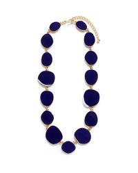 Kenneth Jay Lane - Blue Round Enamel Disc Necklace - Lyst