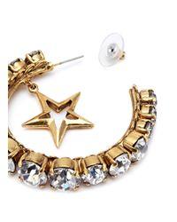 Erickson Beamon - Metallic 'emerald City' Swarovski Crystal Mismatched Hoop Earrings - Lyst