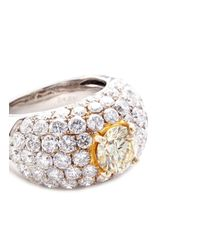 LC COLLECTION - Metallic Diamond 18k Gold Ring - Lyst