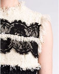 Lanvin | Black Mixed Tweed Lace Dress | Lyst
