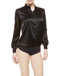 La Perla | Black Shirt Bodysuit | Lyst