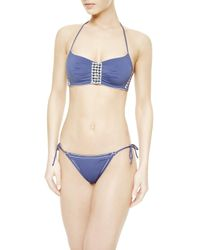 La Perla | Blue Underwired Bikini Top | Lyst