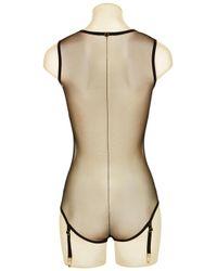 La Perla | Black Bodysuit With Suspender Straps | Lyst