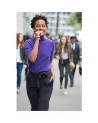 LA REDOUTE - Black Pure Cashmere Roll Neck Jumper/sweater - Lyst
