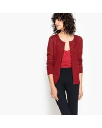 LA REDOUTE - Red Lace Detail Cami Vest - Lyst