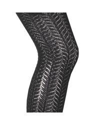 LA REDOUTE | Black Collant En Maille Ajourée Motif Chevron | Lyst