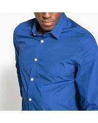 LA REDOUTE - Blue Slim Fit Polka Dot Print Shirt for Men - Lyst