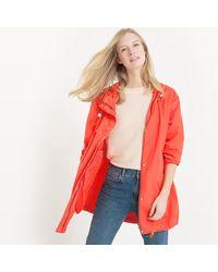 LA REDOUTE - Red Hooded Windcheater - Lyst