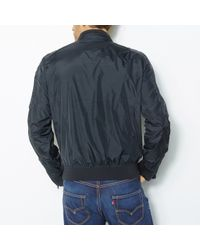 Schott Nyc - Black Leather Bomber Jacket With Detachable Collar And Lining for Men - Lyst