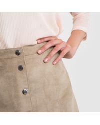 Vero Moda - Natural Vmadina A-line Press-stud Skirt - Lyst