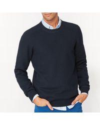 LA REDOUTE | Blue Pull Col Rond En Maille Fantaisie Pur Coton for Men | Lyst
