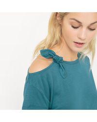 LA REDOUTE - Green Plain Off The Shoulder T-shirt - Lyst