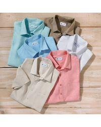 LA REDOUTE - Blue Short-sleeved Regular Fit Linen Shirt for Men - Lyst
