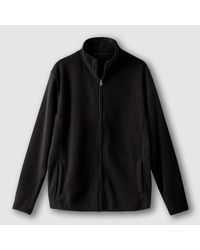 LA REDOUTE | Black High Neck Zip-up Fleece Sweatshirt for Men | Lyst