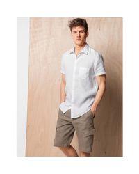 LA REDOUTE - Black Straight Cut Linen Shirt for Men - Lyst