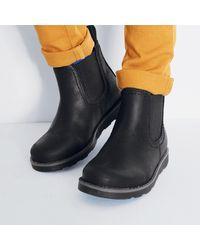 LA REDOUTE - Black Elastische Boots In Leer for Men - Lyst
