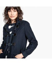 LA REDOUTE - Blue Hooded Duffle Coat 50% Wool - Lyst