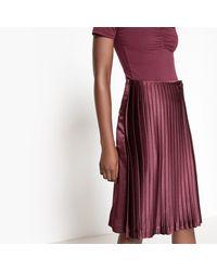 LA REDOUTE - Purple Pleated Midi Skirt - Lyst