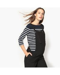LA REDOUTE - Black Slim Fit Maternity Dungarees - Lyst